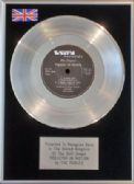 "THE POGUES  - 7"" Platinum Disc - POGUETRY IN MOTION"